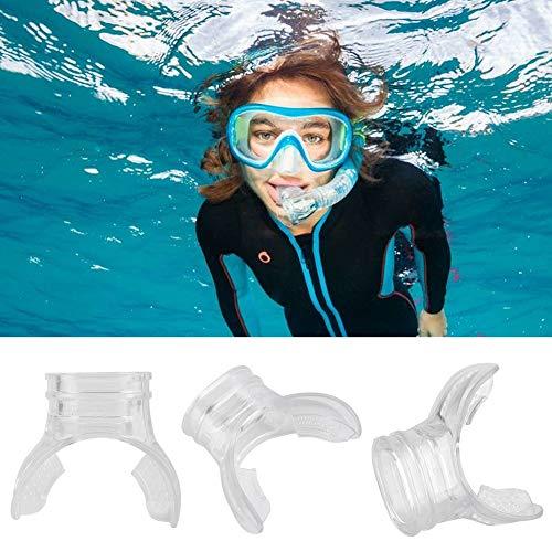 Zetiling Boquilla de Buceo, Silicona Transparente Boquilla de Snorkel Repuesto de Repuesto cómoda Boquilla de Buceo para reguladores