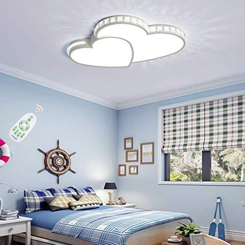 HGW Lámpara de Sala de Estar Luz LED Moderna Luz de Techo Regulable con Control Remoto Diseño Creativo de diseño de Caldo estist Techo para la lámpara de la Oficina Cocina del Dormitorio,52cm