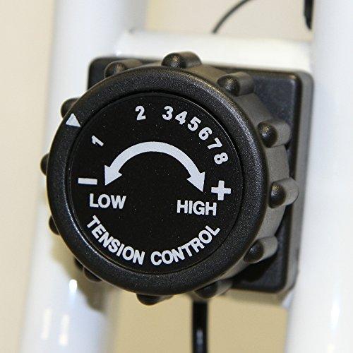 Tecnovita by BH Open&GO YF90 Vélo d'appartement Pliable. Volant d'inertie équivalent à 8kg. Pliable. Système de de Frein magnétique. Console LCD rétro-éclairée. roulettes de Transport. Blanc