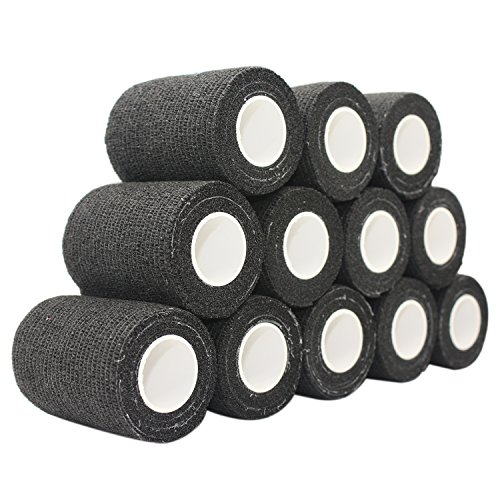 COMOmed selbstklebender verband elastische binde handgelenk bandage pflaster rolle Dog Bandagen Tierische Bandagen Schwarz 7.5 cm X 12 Bände