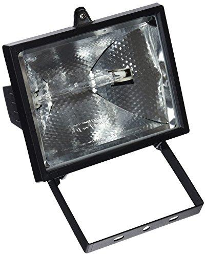 Evila - Foco halogeno+lámpara 500w negro ip44