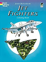jet fighters coloring book for men
