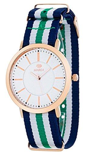 Reloj Marea Unisex B21164/6 Azul, Verde y Blanco