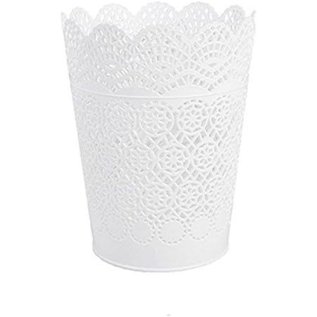 Chytaii Pot à Crayons Porte-Stylo Panier de Rangement Brosses Pinceaux de Maquillage Poubelle en Plastique Ustensile de Cuisine Bureau Multifonctionnel