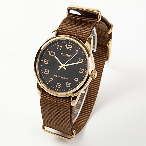 『NATMK 時計ベルト NATO 20mm ゴールドバックル ナイロン ストラップ 取付マニュアル付 (カーキブラウン)』の7枚目の画像