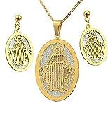 ZPPYMXGZ Co.,ltd Collar Conjunto de Joyas católicas de Moda - Collar de...