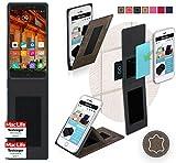 Hülle für Elephone P9000 Tasche Cover Hülle Bumper | Braun Wildleder | Testsieger