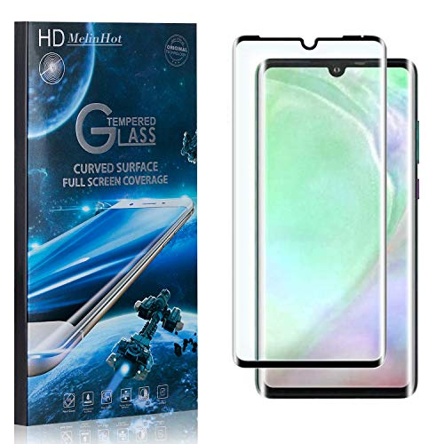 MelinHot Displayschutzfolie für Huawei P30 Pro, 99% Transparenz Schutzfilm aus Gehärtetem Glas, 9H Härte, Keine Luftblasen, 3D Touch, 1 Stück