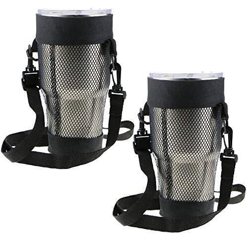 EEEKit 2 Packungen Tragetasche für Becher mit 900 ml Fassungsvermögen, Yeti, Ozark Trail, RTIC, SIC, Member's Mark 900 ml, Becher-Tasche, verstellbarer abnehmbarer Schulterriemen