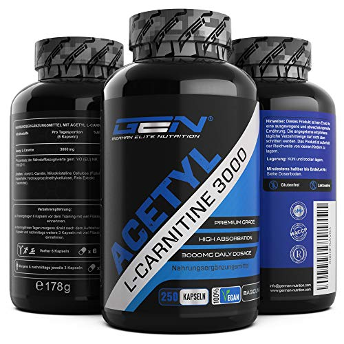 GEN GERMAN ELITE NUTRITION Acetyl L-Carnitin 3000 Fatburner