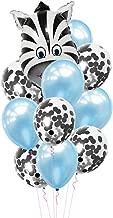 NUOBESTY Big Size Zebra Head Aluminium Foil Balloon Farm Animal Balloon Set Cute Cartoon Kids Party Supplies Decorations for Wedding Birthday 12pcs