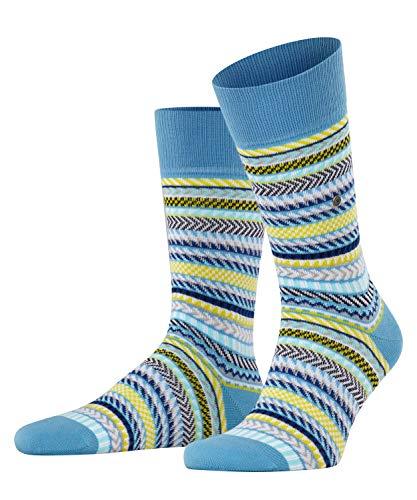 Burlington Herren Digital Fair Isle M SO Socken, Blau (Sky Blue 6254), 40-46