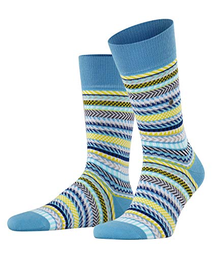 Burlington Herren Digital Fair Isle M SO Socken, Blau (Sky Blue 6254), 40-46 (UK 6.5-11 Ι US...