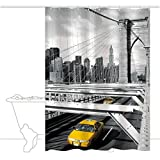 Duschvorhang 'TAXI' 180x200 cm - Bildmotiv New Yorker Taxen - GELCO DESIGN