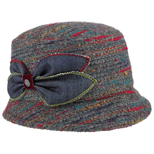 Lierys Sombrero de Mujer Multicolour Wool-Mix - Made in Italy Tela Invierno con Forro otoño/Invierno - Talla única Multicolor
