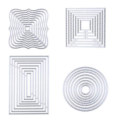 Stanzformen aus Kohlenstoffstahl Schablonen Vorlagen Kreis Quadrat Rechteckige 4 Formen