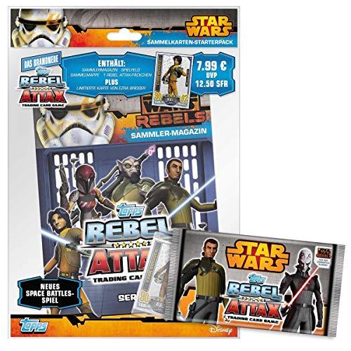 Topps TO01029-DE - Sammelkartenspiel - Star Wars Rebel Attax Starter Set, Deutsch