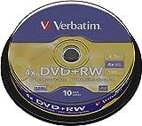 Verbatim 43488 DVD+RW, 4.7 Gb, 4x, Spindle, 10 Pezzi...