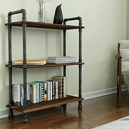 Barnyard Designs Furniture 3-Tier Etagere Bookcase, Solid Pine Open Wood Shelves, Rustic Modern...