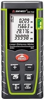 جهاز SW-T40 رقمي لقياس المسافة من سندواي، جهاز قياس مسافة حتى نطاق 40 متر، شريط مسافة بالمتر يقيس حجم المنطقة