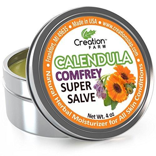 Creation Farm - Super Salve Herb Balm - 4 Oz Salve Tin - Consuelda Hierbas...