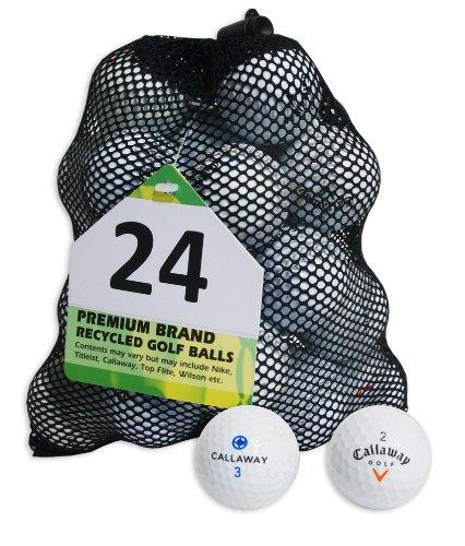 Second Chance Golfbälle 24 Callaway Lake, weiß, 24-MESH-CAL-B