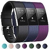 Zekapu pour Fitbit Charge 2 Bracelet, Charge 2 Sport Remplacement Bracelet avec...