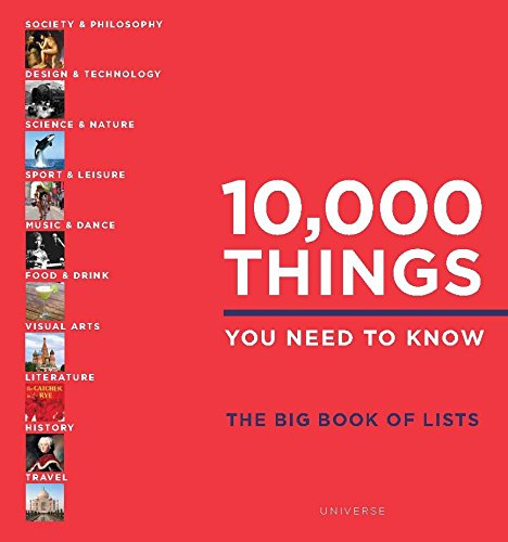 10,000 Things You Need to Know: The Big Book of Lists [Idioma Inglés]