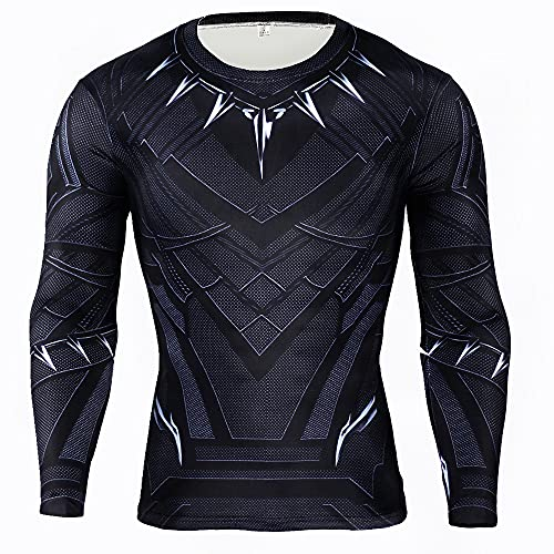 XPDD Men Long Sleeve T Shirt Gym Running Fitness Training Base Layer Tight Sport T-Shirts Men T-Shirts Gym Compression Men's Long Sleeve Running Shirt Quick Dry Fitness Tight Soccer Jersey Sports