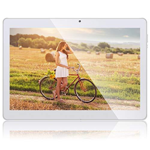 Qimaoo 10.1 Inch 3G Tablet Android 8.1, Quad Cord 16GB ROM 1GB RAM, Google Play, WIFI, GPS, Cameras, SIM Card Slots, 1280*800 HD IPS Screen, Metal Housing - Q10