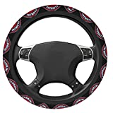 Fremont Die New England Patriots Football Fans Steering Wheel Cover for 15 in Outer Diameter Steering Wheel