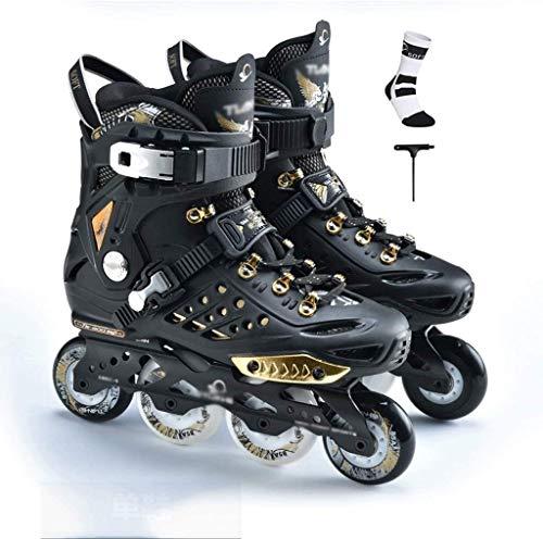 Patines en línea Rodillo Ajustable Forros for niños mejores regalos de los hombres de patines en línea profesional de patines en línea patines en línea for niños Protección Completa ( Size : 37EU )