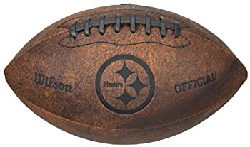 NFL Pittsburgh Steelers Vintage Throwback Football 9-Inches