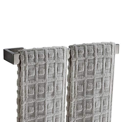 Lolypot - Porta asciugamani da parete in acciaio INOX, Portasciugamani da parete Bohren da 35cm, porta asciugamani a parete per bagno e cucina, Abbastanza a lungo per due Asciugamani (Cromo)