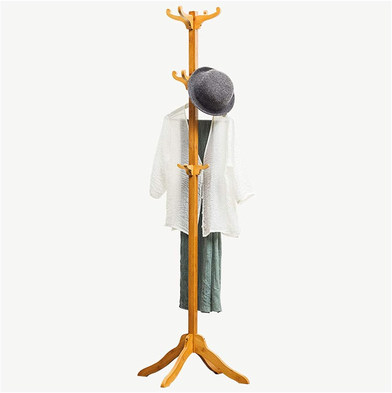Standing Coat Racks Coat Stand Wooden Clothes Rack Hooks for Umbrella Hat Coat Rack Storage Bedroom Hallway Free Standing Floor Hanger -0223
