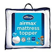 Silentnight Airmax Mattress Topper - Deep Thick Best Mattress Toppers Pad Breathable Cooling Soft Co...