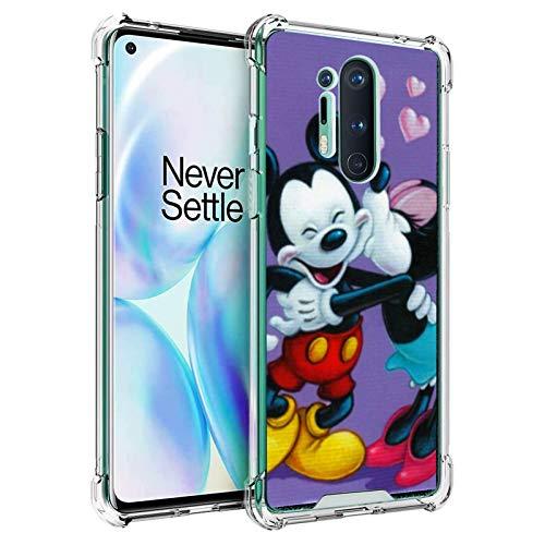DISNEY COLLECTION Funda transparente diseñada para 1+8Pro protección antigolpes con Mickey Mouse Minnie Happy Valentine's Day Case for 1+8Pro