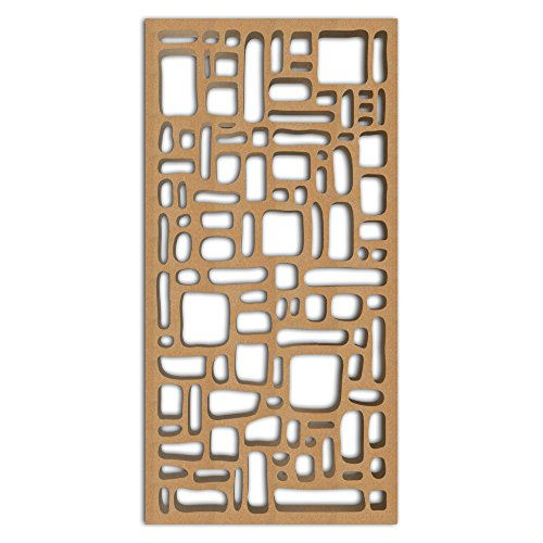 Best Bargain NISH! Carved Wood Panels   Wooden Screen Room Divider #113-08 (Abstract, 4ft x 8ft, Nat...