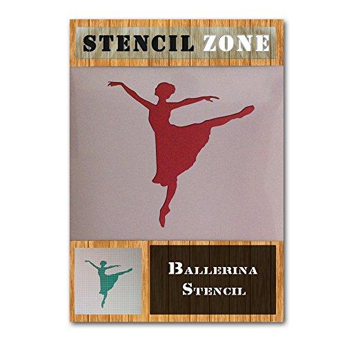 Ballerina Arabesque Ballett-Tänzer mylar Malerei Wandkunsthandwerk Schablone (A6 Größe Stencil - XXSmall)