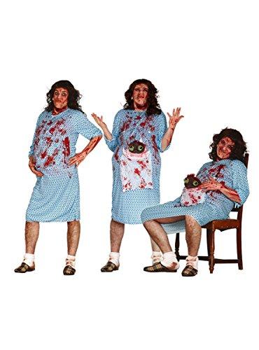 Schwangerer Zombie mit Baby Herrenkostüm Gr. M/L, Größe:L