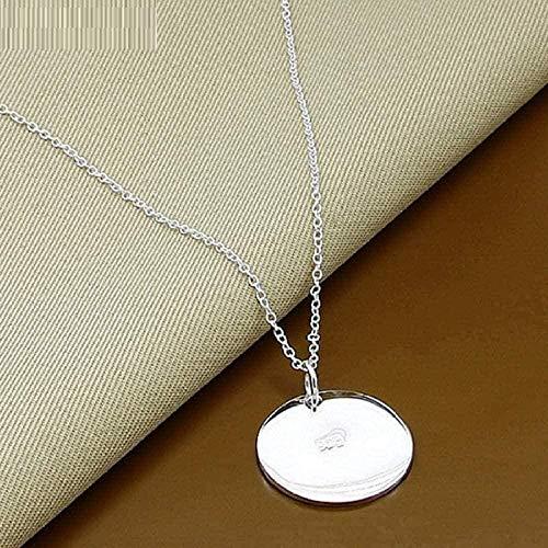 Runde Papier Anhänger Halskette 18 Zoll Kette Halskette Frauen Engagement Schmuck