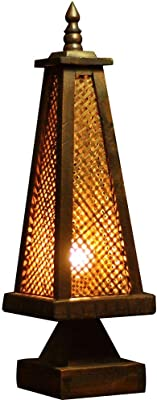 Water cup レトロなテーブルランプガーデン照明テーブルランプタイスタイル特徴的な竹ランプ寝室のベッドサイドランプアンティーククリエイティブテーブルランプ照明
