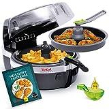 Tefal ActiFry 1400 - Friteuse à air chaud - En plastique - 1,5 kg Fritteuse à air chaud + livre de recettes G+U noir/argent
