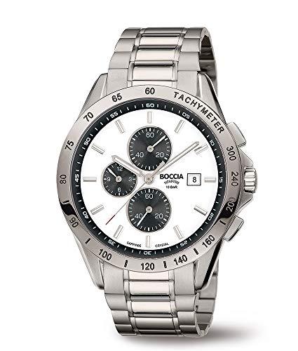 Boccia Orologio Cronografo Quarzo Uomo con Cinturino in Titanio 3751-04