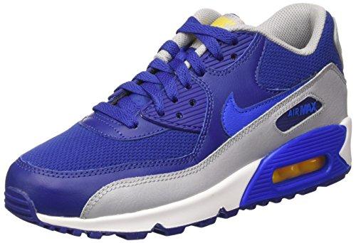 Nike Unisex-Kinder Air Max 90 Mesh Gs Sneakers, Azul (Dp Ryl Blue / Hypr Cblt-Vrsty Mz), 38 EU