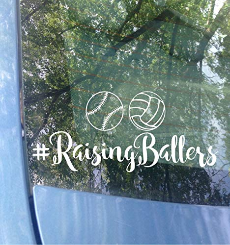 Raising Ballers Decal I Only Raise Ballers Baseball Softball Volleyball Sports Mom Dad Fête des Mères