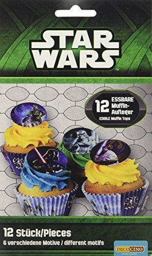 Dekoback Essbare Zucker-Muffinaufleger Star Wars, 1er Pack (1 x 11 g)