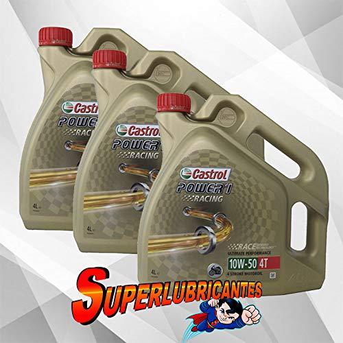 Mundocoche Castrol Power 1 Racing 4T 10W50 3x4L(12Litros)