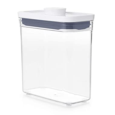 OXO Good Grips POP Container - Airtight Food Storage - 1.2 Qt Rectangle (Set of 4) for Pasta and More
