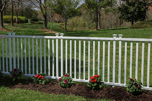 Zippity Outdoor Products ZP19037 Baskenridge Semi-Permanent Vinyl Fence, White (36in H x 42in W)- 2 Pack